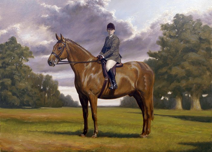 Horse Paintings Greeting Card featuring the painting Traditional Portrait by John Silver