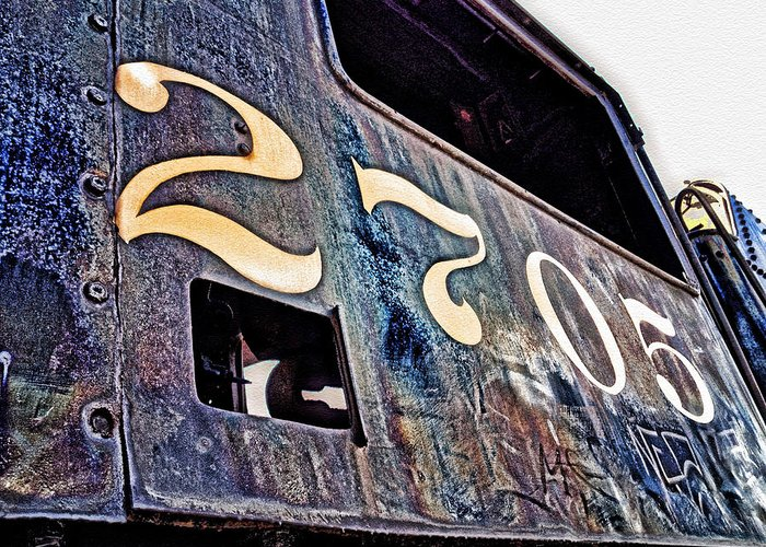 Greeting Card featuring the photograph Train 2705 by Shmuel Vick