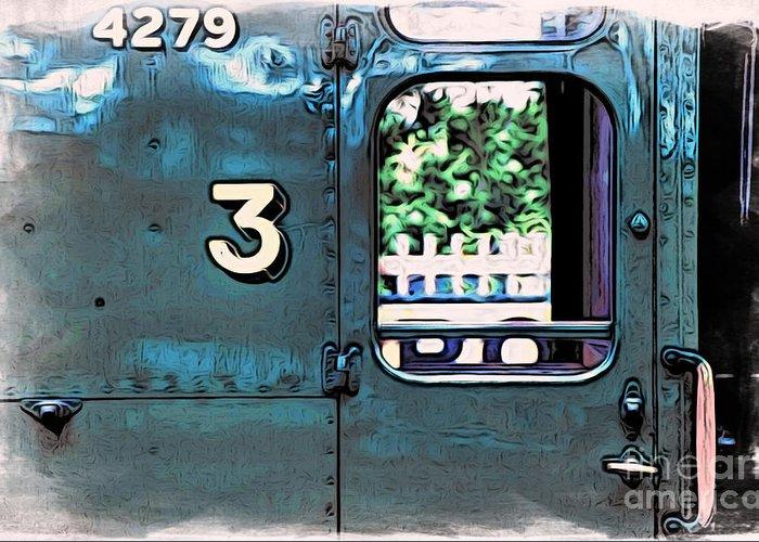 Bluebell Railway Greeting Card featuring the digital art Train 4279 by Paul Stevens