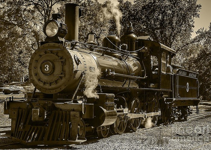 Train Engine For Sale >> Train Engine Number 3 Greeting Card For Sale By David Millenheft