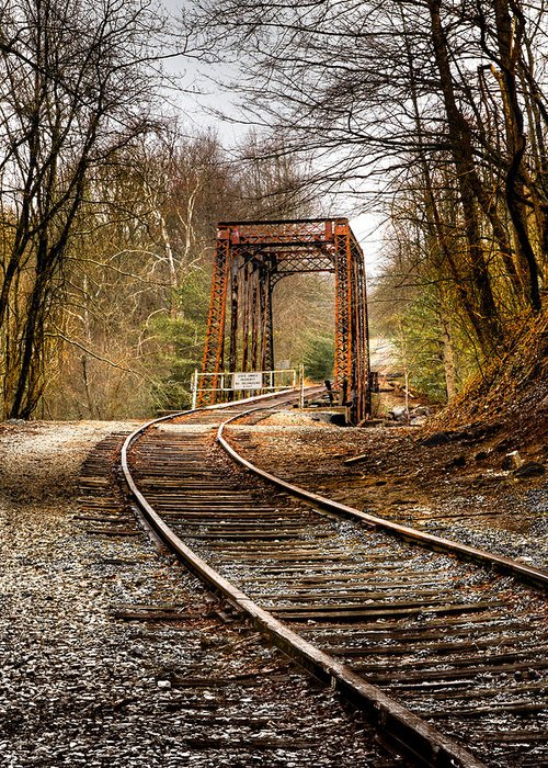 Appalachia Greeting Card featuring the photograph Train Memories by Debra and Dave Vanderlaan