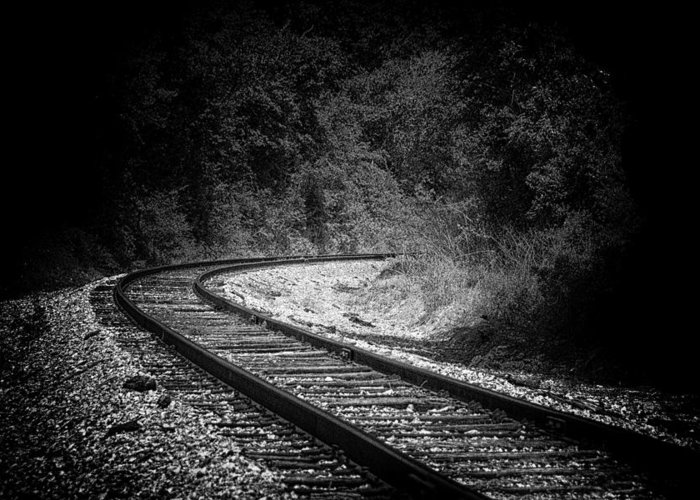 Tracks Greeting Card featuring the photograph Big Curve Train Tracks by Gej Jones