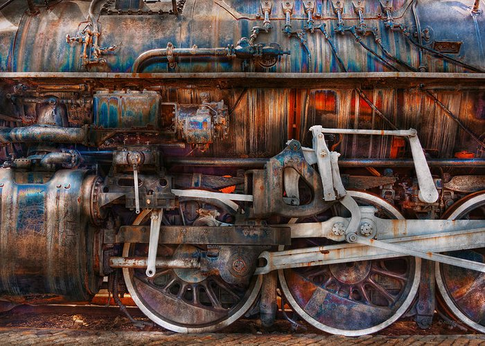 Savad Greeting Card featuring the photograph Train - With Age Comes Beauty by Mike Savad