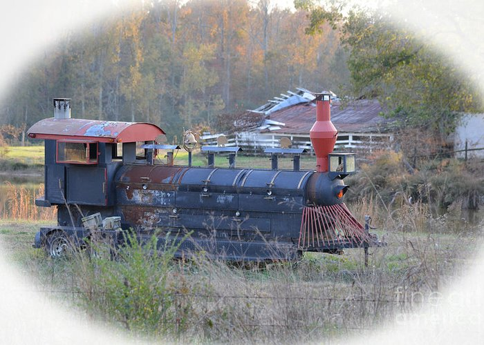Trains Photographs Greeting Card featuring the photograph Trains Planes And Automobiles by Barb Dalton