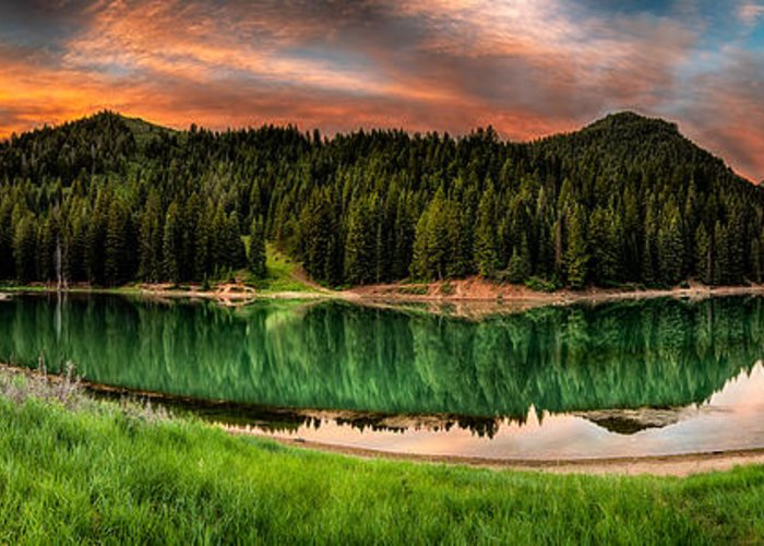 Reservoir Greeting Card featuring the photograph Tranquility by Brett Engle