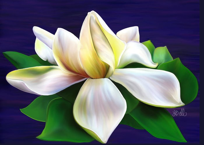 Gardenia Greeting Card featuring the painting Tranquility by Laura Bell