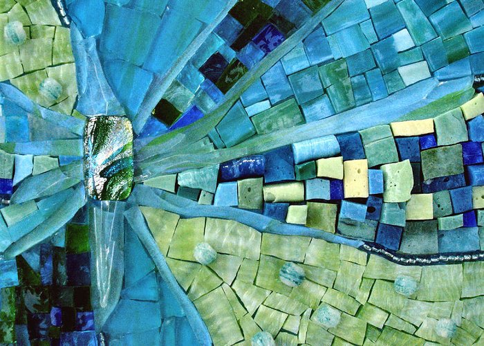 Mosaic Greeting Card featuring the photograph Tranquility by Valerie Fuqua