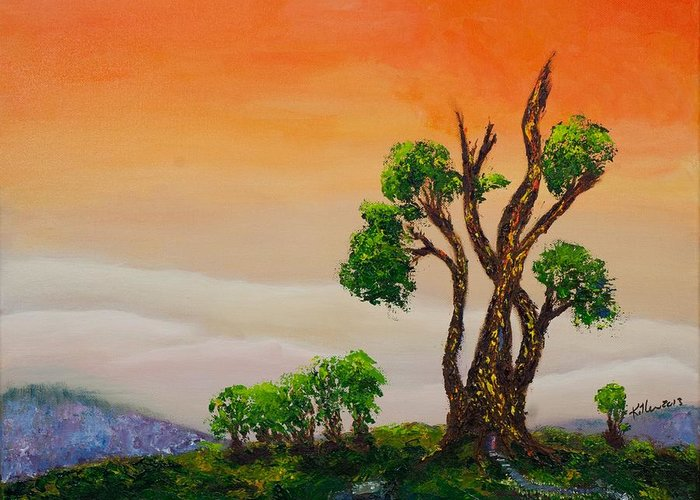 Killen Greeting Card featuring the painting Tranquility by William Killen