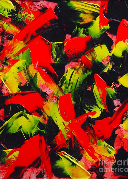 Abstract Greeting Card featuring the painting Transitions IIi by Dean Triolo