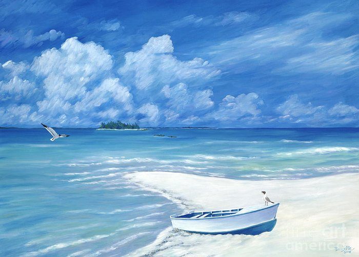 Seascape Greeting Card featuring the painting Treasure Cay by Danielle Perry