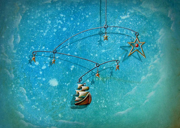 Boat Greeting Card featuring the painting Treasure Hunter by Cindy Thornton