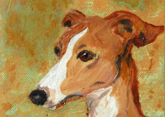 Acrylic Greeting Card featuring the painting Treasured Moments by Cori Solomon