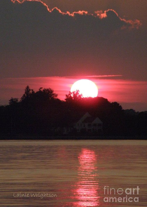 Sunset Greeting Card featuring the photograph Tred Avon Sunset by Lainie Wrightson
