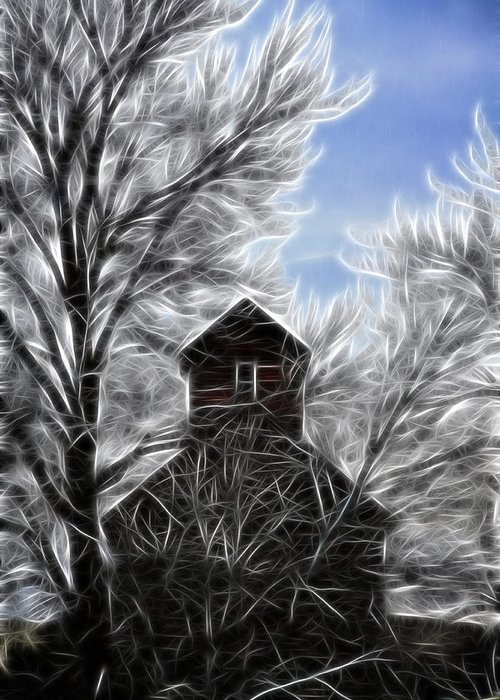 Cabin Greeting Card featuring the photograph Tree House by Steve McKinzie