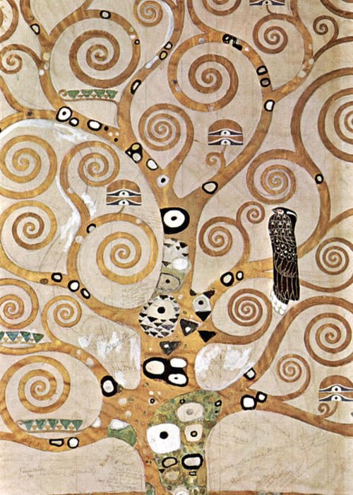 Gustav Klimt Greeting Card featuring the painting Tree Of Life - Lebensbaum by Masterpieces Of Art Gallery