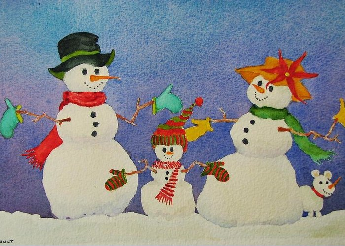 Winter Greeting Card featuring the painting Tres Chic by Mary Ellen Mueller Legault