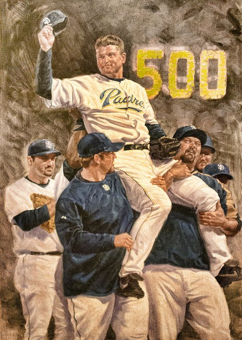 Trevor Hoffman Greeting Card featuring the digital art Trevor Hoffman by Photographic Art by Russel Ray Photos