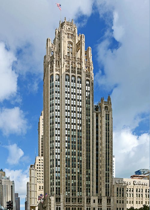 Michigan Greeting Card featuring the photograph Tribune Tower - Beautiful Chicago Architecture by Christine Till