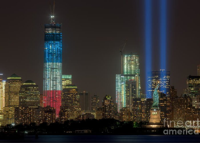 Clarence Holmes Greeting Card featuring the photograph Tribute In Light Xiii by Clarence Holmes