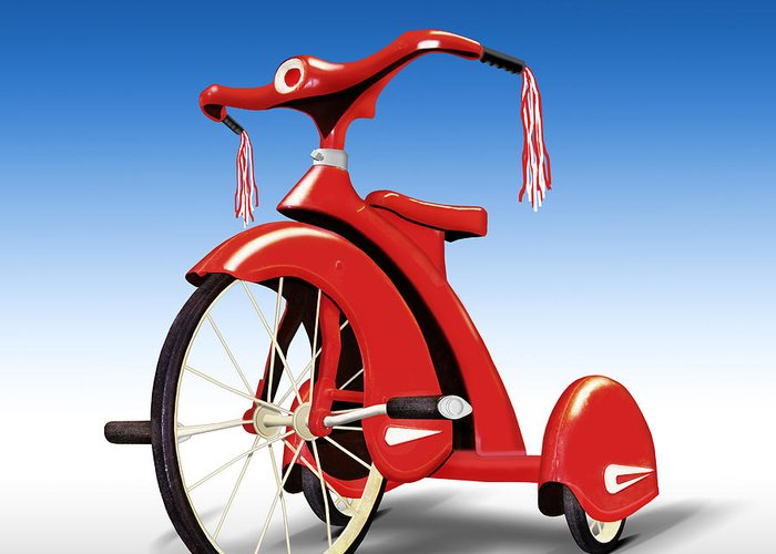 Classic Trike Greeting Card featuring the photograph Trike by Mike McGlothlen