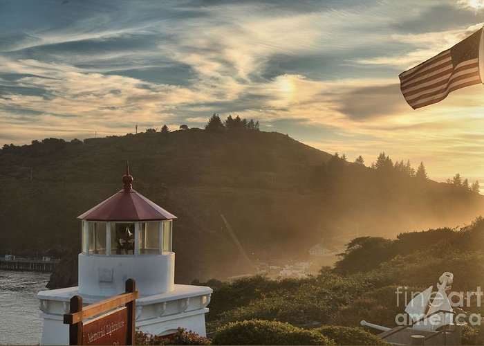 Trinidad State Beach Greeting Card featuring the photograph Trinidad Beach Lighthouse by Adam Jewell