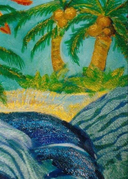 Tropics Greeting Card featuring the mixed media Trip To The Tropics II by Anne-Elizabeth Whiteway