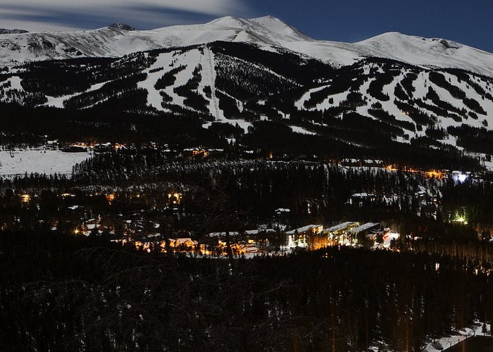 Panorama Greeting Card featuring the photograph Triptych 1 Breckenridge by D Scott Clark