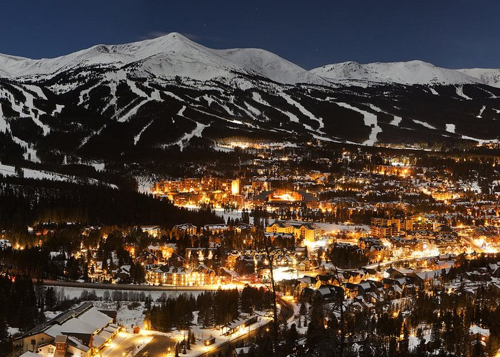 Panorama Greeting Card featuring the photograph Triptych 2 Breckenridge by D Scott Clark