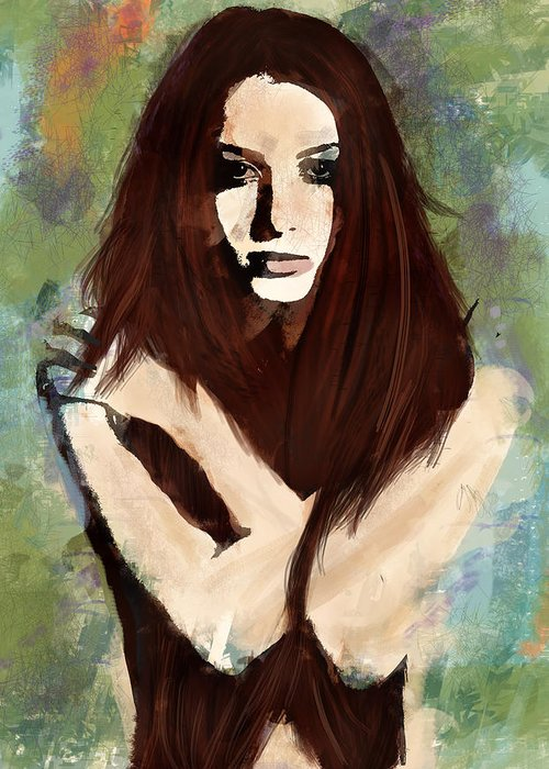 Impressionism Greeting Card featuring the digital art Tristesse by Galen Valle