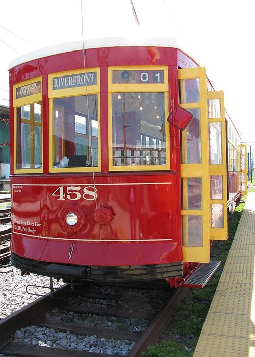 Transportation Greeting Card featuring the photograph Trolley 458 by Steven Parker