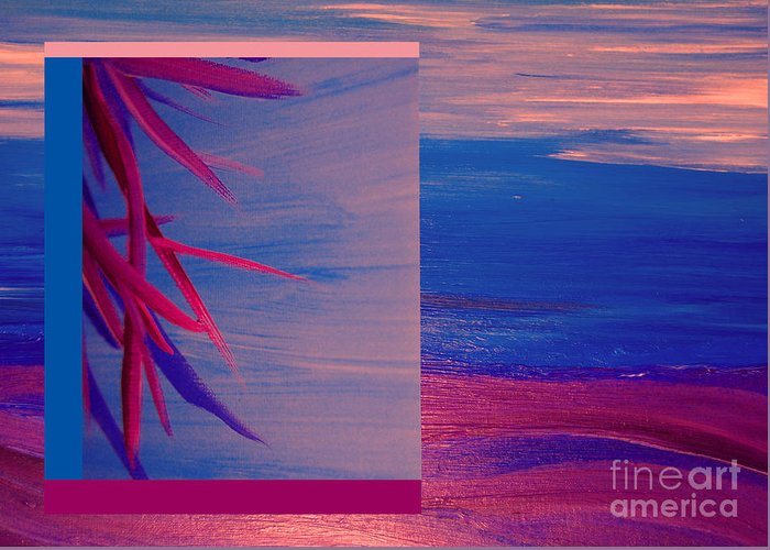 First Star Art Greeting Card featuring the painting Tropical Sunrise By Jrr by First Star Art