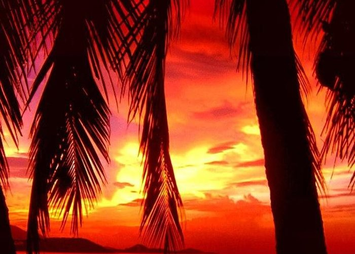 Iclandscapes Greeting Card featuring the photograph Tropical Sunset - Thailand by Luisa Azzolini