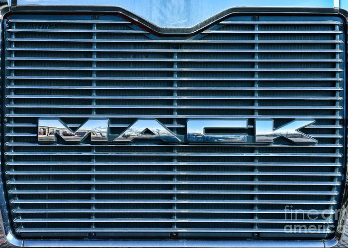 Paul Ward Greeting Card featuring the photograph Truck - The Mack Grill by Paul Ward