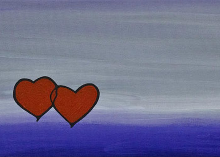 Hearts Greeting Card featuring the painting True Love by Sharon Cummings