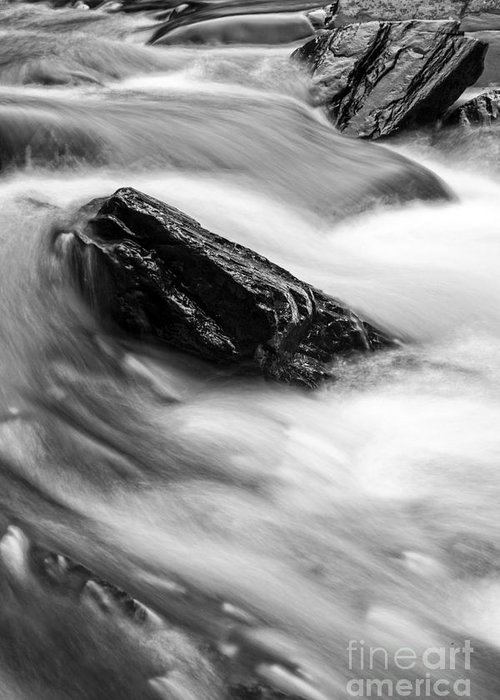 Meridith Greeting Card featuring the photograph True's Brook Gorge Water Fall by Edward Fielding
