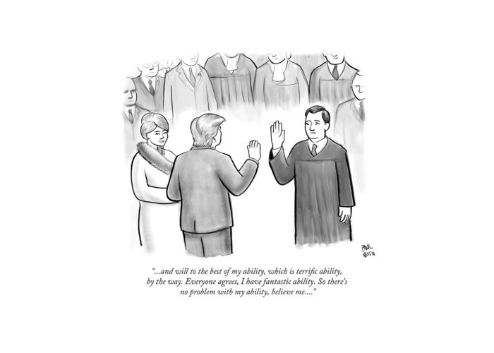 Sworn In Greeting Cards