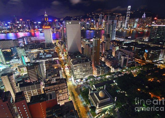 Hong Kong Greeting Card featuring the photograph Tsim Sha Tsui In Hong Kong by Lars Ruecker