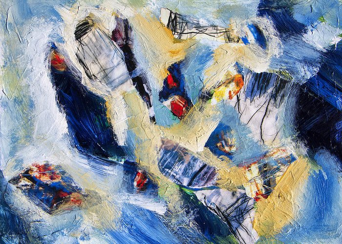 Abstract Greeting Card featuring the painting Tsunami 2 by Dominic Piperata