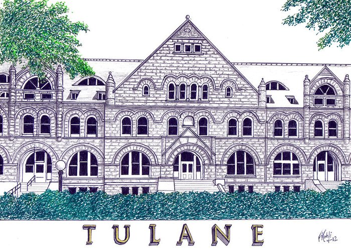Famous University Buildings Drawings Greeting Cards