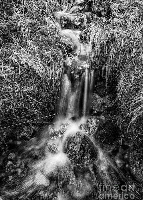 Beautiful Scotland Greeting Card featuring the photograph Tumbling Water by John Farnan