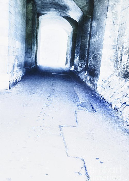 Menacing Greeting Card featuring the photograph Tunnel by Margie Hurwich