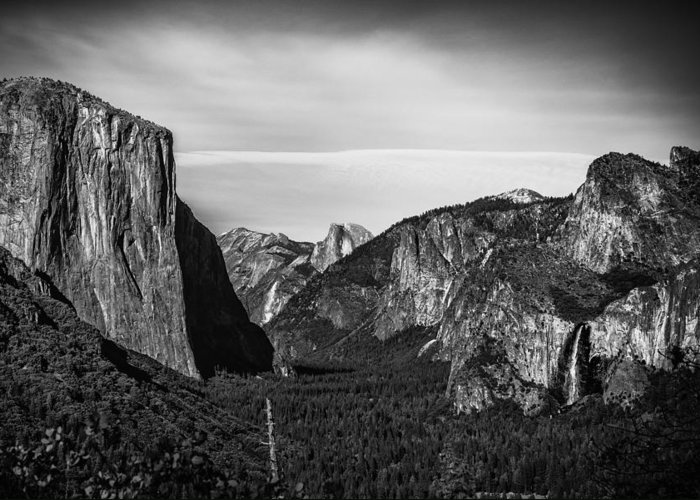 Yosemite Fall Greeting Card featuring the photograph Tunnel View Yosemite by Jay Robert Luguevarra