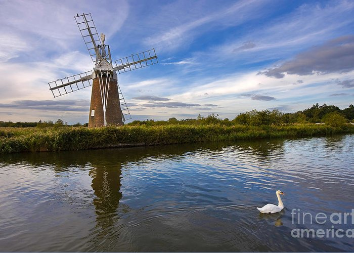 Travel Greeting Card featuring the photograph Turf Fen Drainage Mill by Louise Heusinkveld