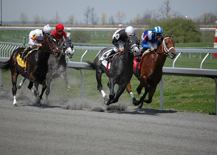 Keeneland Greeting Card featuring the photograph Turn One by Paul Harris