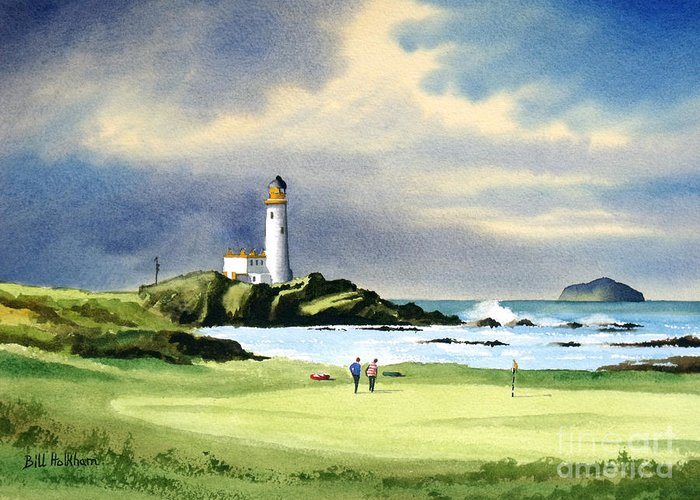 Links Golf Courses Greeting Cards