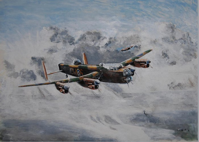 Aviation Greeting Card featuring the painting Turning Point by Art Cox