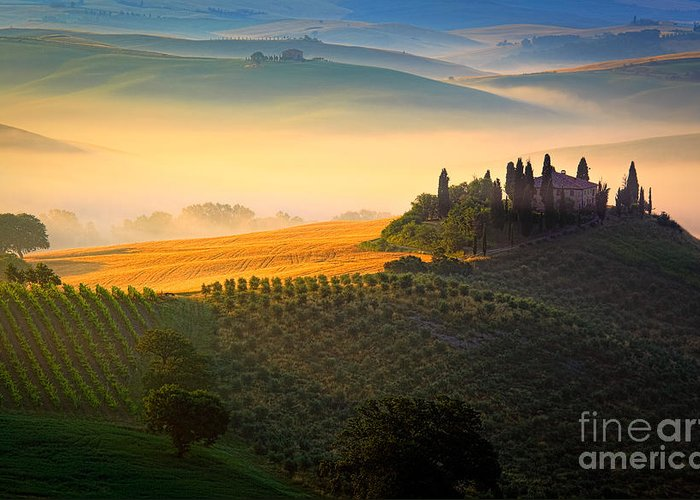 Europe Greeting Card featuring the photograph Tuscan Dawn by Inge Johnsson