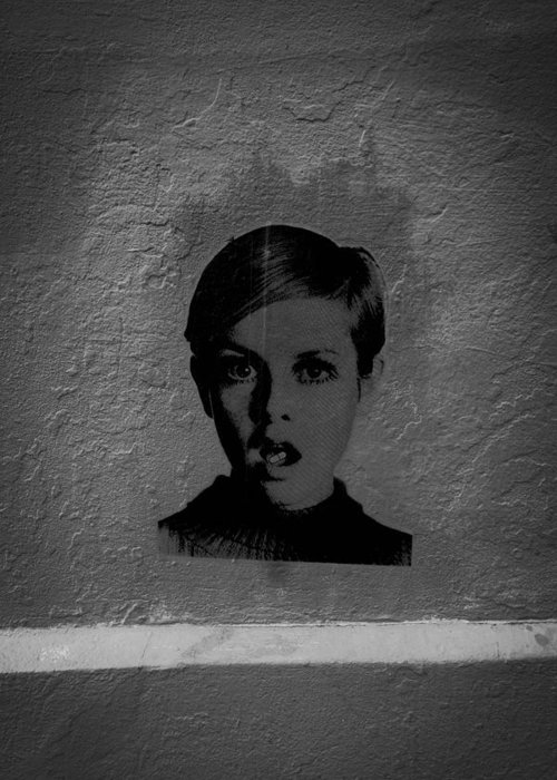 Twiggy Greeting Card featuring the photograph Twiggy Street Art by Louis Maistros