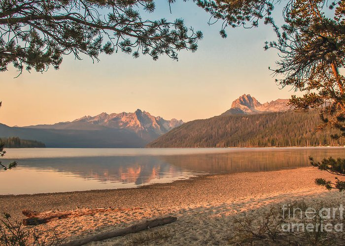 Rocky Mountains Greeting Card featuring the photograph Twilight At Redfish Lake by Robert Bales