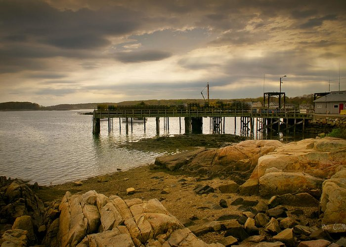 Kennebunk Greeting Card featuring the photograph Twilight Cape Porpoise Maine by Bob Orsillo
